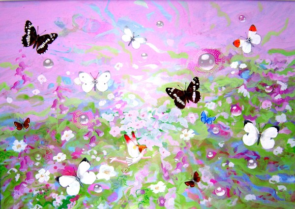 Fairies and White Butterflies and 2 White Admirals