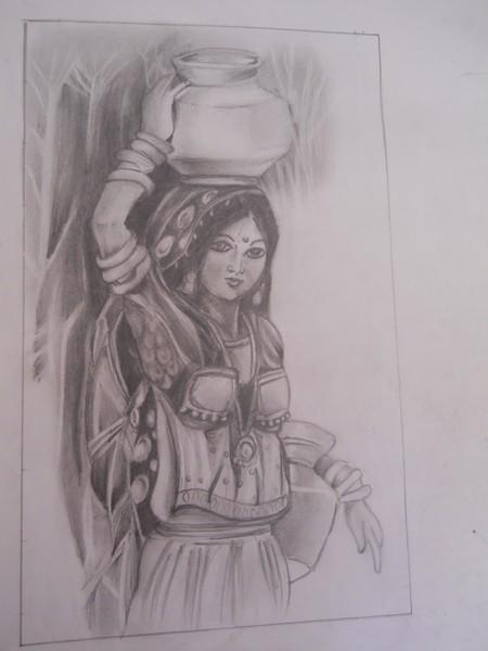 Village woman panihari