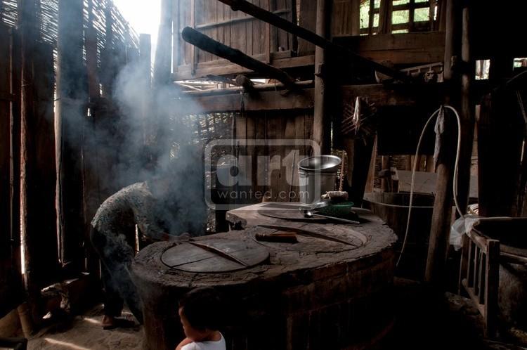 Miao minority farmers' kitchen in western hunan, China