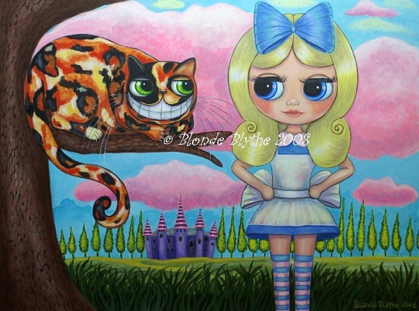 Alice in Wonderland and the Cheshire Cat