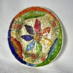 Seven colors flower plate