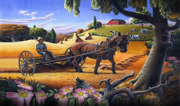 Raking The Hay Field - Iphone Case Art