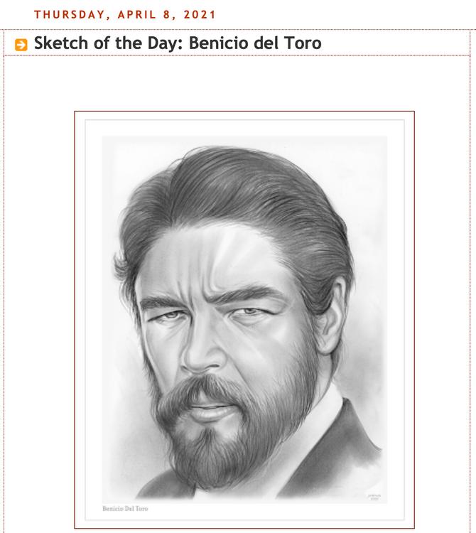 Benicio Del Toro - Pencil