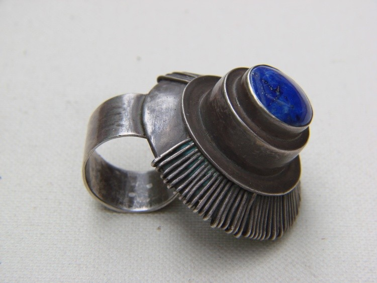 Element -14 Hand crafted  art ring by Gomolka Mirek ART 1986 Poland