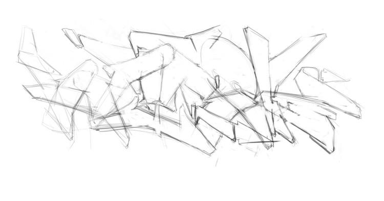 graffiti letter structure 1 - BayRoc