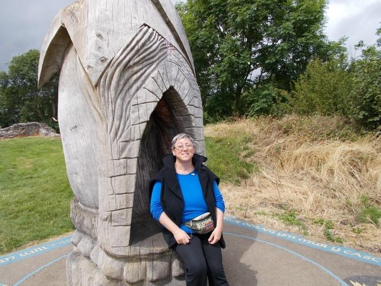 Me at Castell Newydd Emlyn