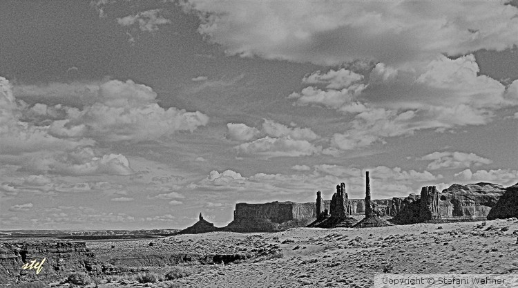 Monument Valley in BW