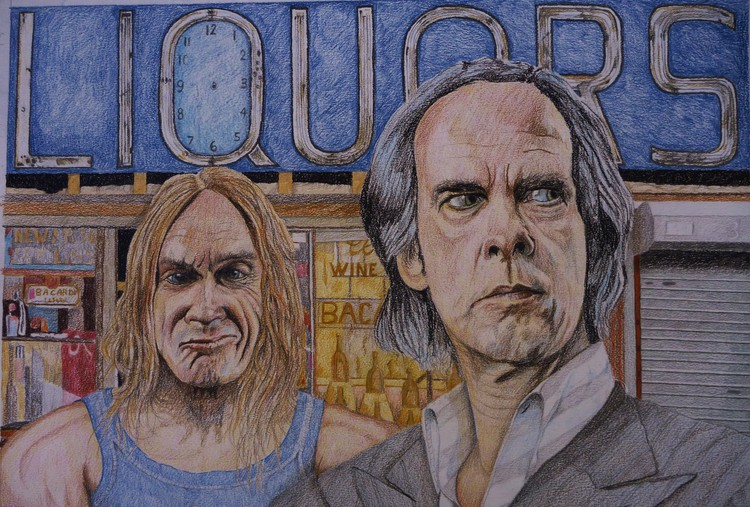 Iggy Pop and Nick Cave