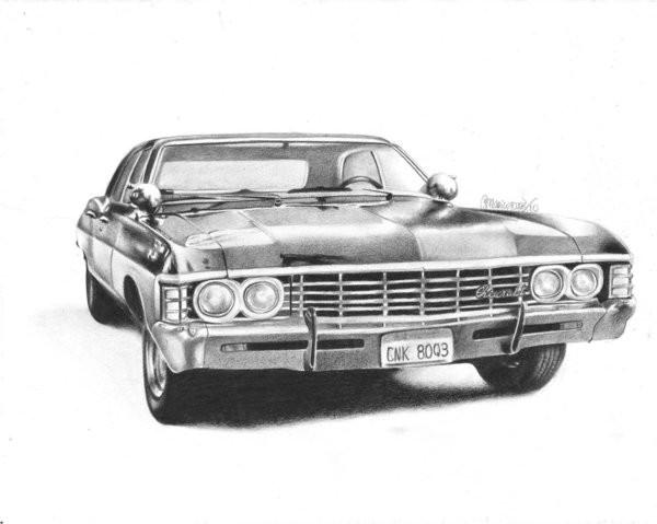 Chevy Impala Supernatural By Maria Artwanted Com