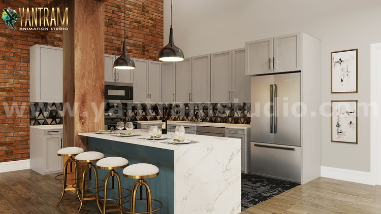 Modern Kitchen 3d Interior Design Firms By Architectural Modeling Firms By Ruturaj Desai Artwanted Com