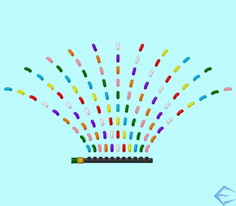 Rainbow Sprinkle-r
