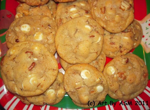 White Chocolate Chip Pecan Cookies skip the Macada