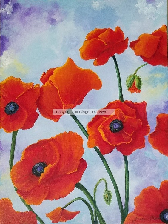Red Ladies (Poppies) Painting (Copyright)