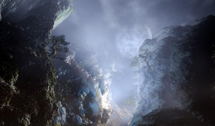 Gorge At Night