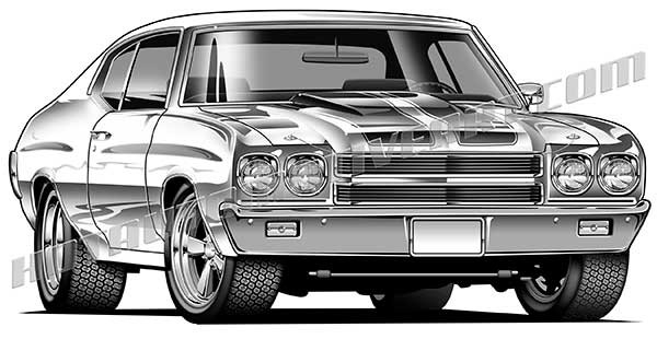 2016 Chevelle Ss >> 1970 Chevelle Muscle Car by David England | ArtWanted.com