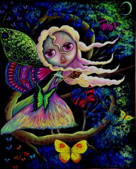 Blythe Butterfly Fairy Under The Moonlight