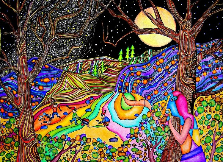 Fullmoon on Psychedelic Hill