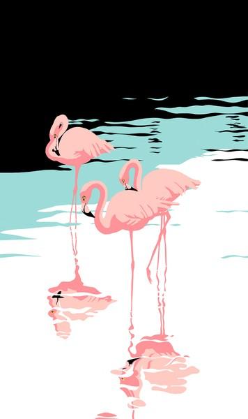 Pink Flamingos - Custom Phone Case Art