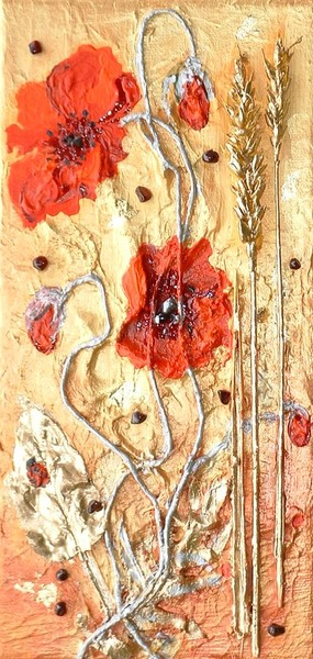 POPPIES IN FIELD OF GOLD