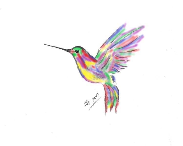 Hummingbird Print  3D