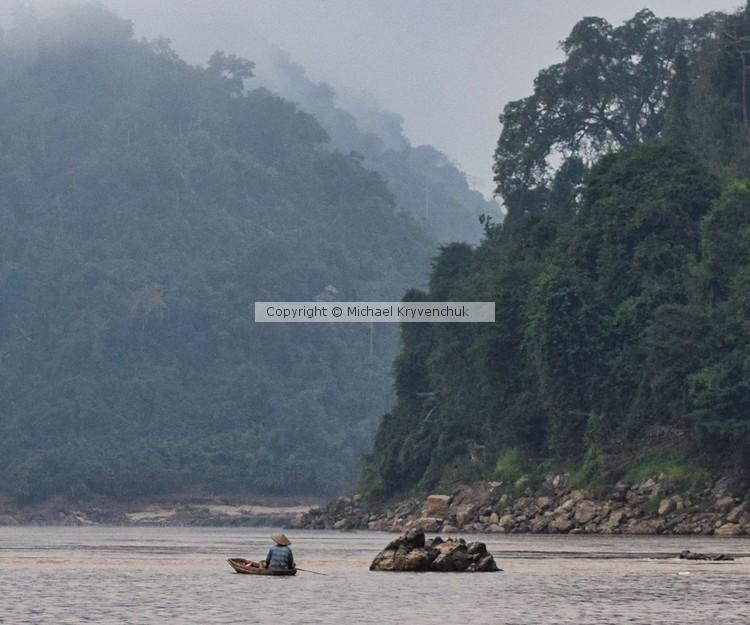 Paddling on the Mekong River