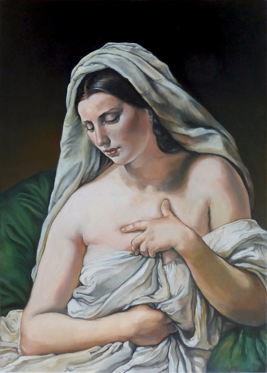 after Francesco Hayez - odalisca