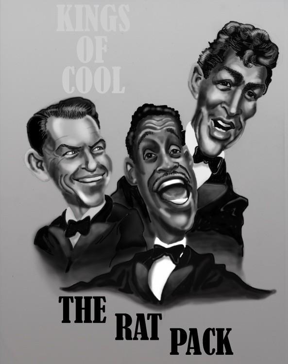 Rat Pack caricatures