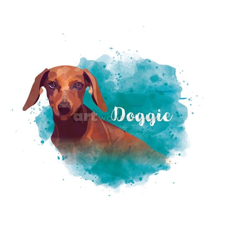 Spanish-dachshund-watercolor
