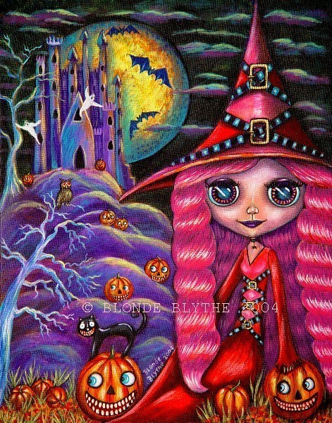Pink-haired Halloween Blythe Witch