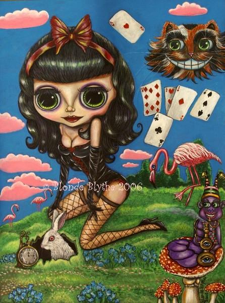 Kawaii Noir Alice in Wonderland