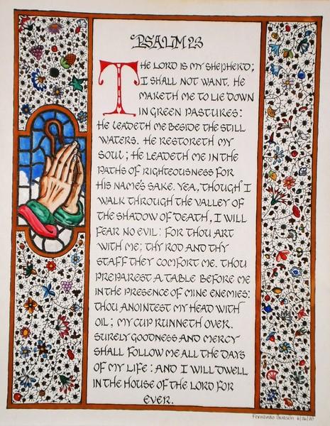 Image result for 23 psalm kjv printable