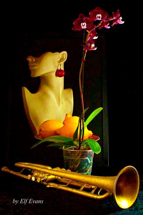 Purple Orchid &Trumpet