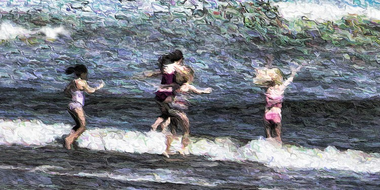 Wild Girls Storm the Sea