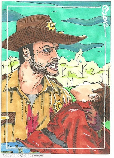Rick and Carl ACEO