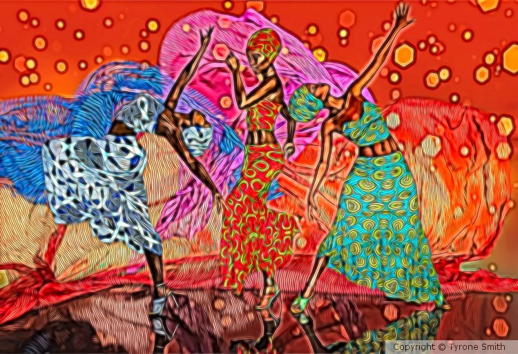 Dance of Colours (Painting)