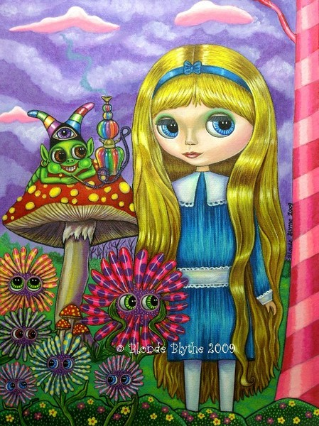 Alice in Wonderland and the Caterpillar