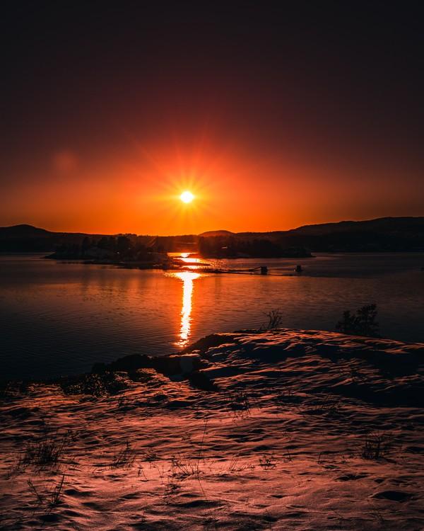 Moody sunset