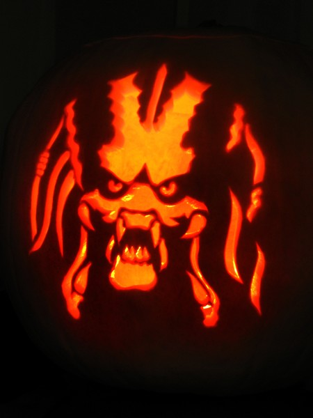 Predator Pumpkin Carving By Paul Attwood