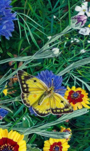 Butterfly Wildflowers 1 - Custom Phone Case Art