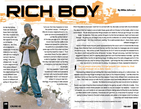crunk magazine article layout by dennis salvatier artwanted com