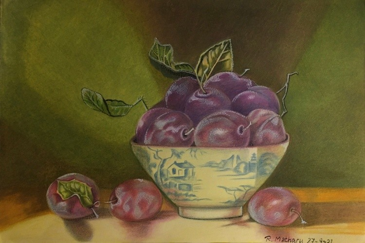 Still life, plums
