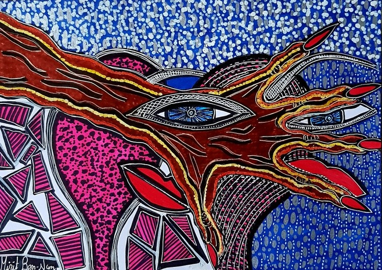 Art israel abstract colorful paintings modern artist Mirit Ben-Nun