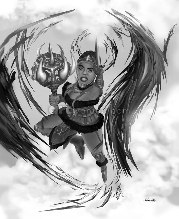 Warrior woman 9 x 11