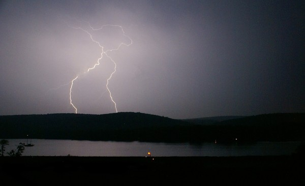 Attempt at photographing lightning
