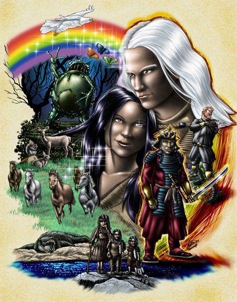 Loose End of The Rainbow Color Poster