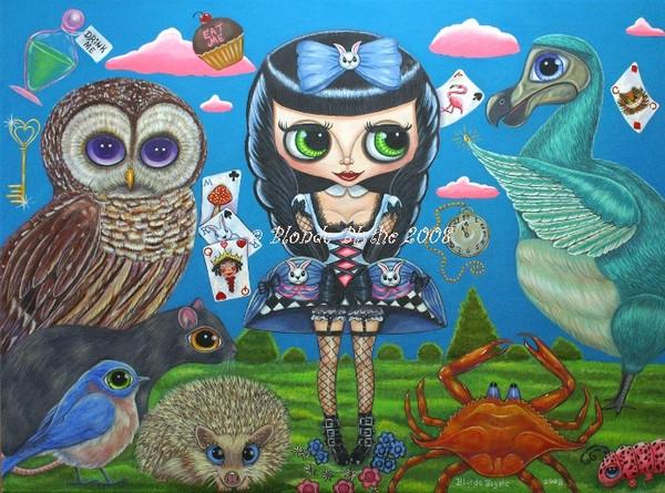 Kawaii Noir Alice in Wonderland II