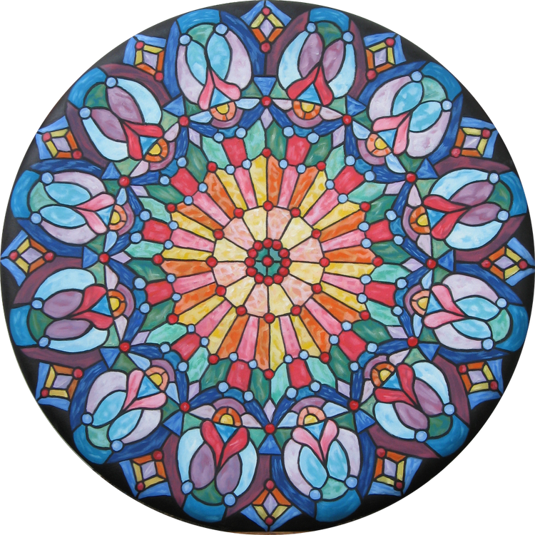 Faux Rose Window
