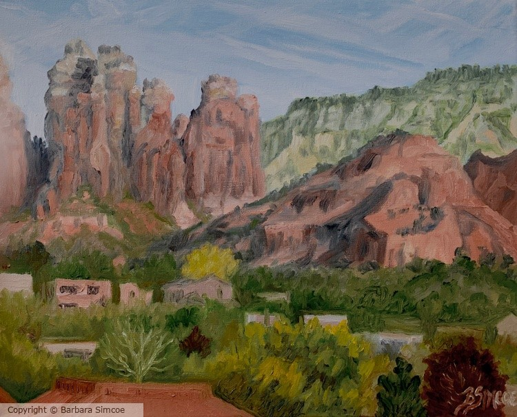 Sedona hills from my balcony