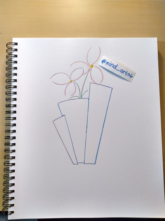Flower in vase quick drawing
