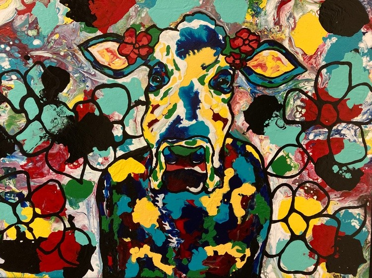 18x24 Mad Cow